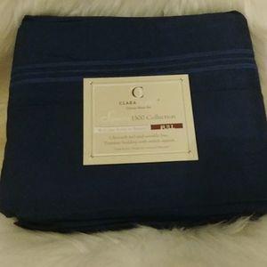 Clara Clark Deluxe 1500 Navy Full Sheet Set